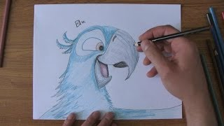 How To Draw Blu From Rio, Rio 2