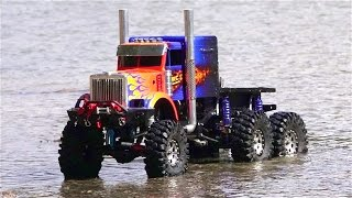RC ADVENTURES - OPTiMUS OVERKiLL on Patrol - 6x6x6 1/10th scale Transformers Tribute Truck