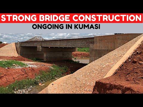 Very Strong Bridge Construction In Progress on the Esereso Adagya Road in Kumasi, Ghana.