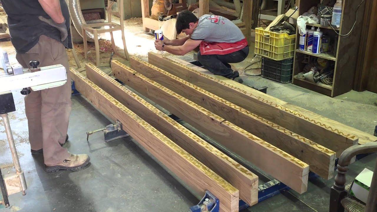 fabricaci n tapa de mesa en madera de olivo youtube