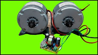 Simple MPPT Project,Boost Converter,24V 500W DC Motor Running Test