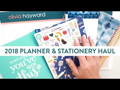 Erin Condren HAUL! | Unboxing My 2018 Planner & Stationery Accessories!