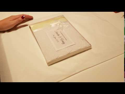 How I package my personalised guest books