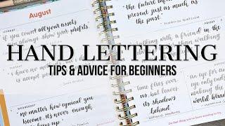 Hand Lettering | Tips and Advice for Beginners | #handlettering #tombow #brushlettering