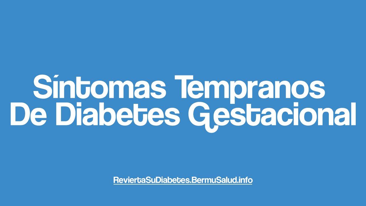 Síntomas Tempranos De Diabetes Gestacional | Early