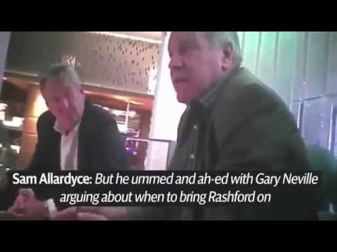 Sam Allardyce caught by false investors