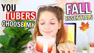 YOUTUBE Friends Choose my FALL ESSENTIALS 🍁 FT. Jojo Siwa, Taylor & Vanessa & more