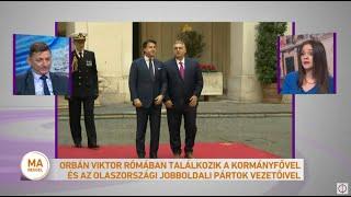 Orbán Viktor Rómában találkozik a kormányfővel és az olaszországi jobboldali pártok vezetőivel