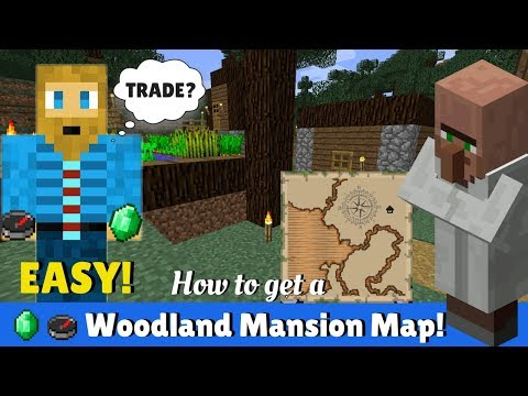 How To Get A Map To A Woodland Mansion - Minecraft - YouTube Map Get on