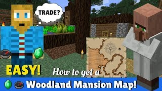 How To Get A Map To A Woodland Mansion - Minecraft