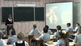 фрагмент урока русского языка в 6 классе