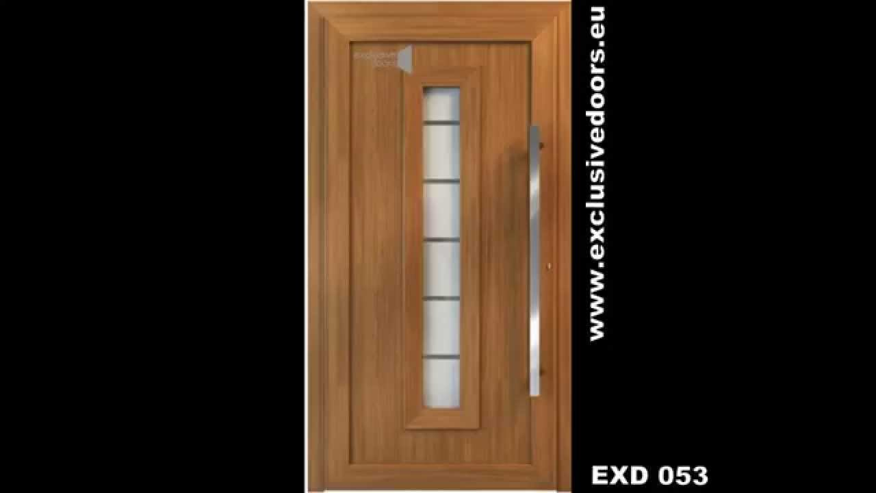 Many front doors designs exclusive doors schuco aluminum for Door design video
