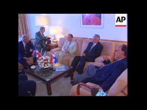 Greece - Tudjman and Milosevic meet for talks