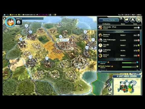 Let's Play Civ 5 - Greece One City Challenge - Part 6