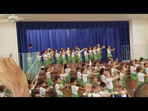 Hahaione Elementary School Hula Performance (Kindergarten) December 8th, 2017.