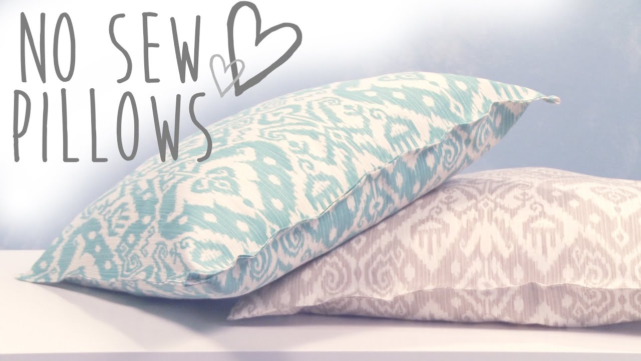 No Sew Throw Pillows Cover: DIY No Sew Pillows   YouTube,