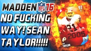 100 HITPOWER SEAN TAYLOR! BEST LEGENDS ROUND POSSIBLE! Madden 16 Draft Chamos