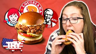 Irish People Try American Chicken Sandwiches For The First Time... in AMERICA!