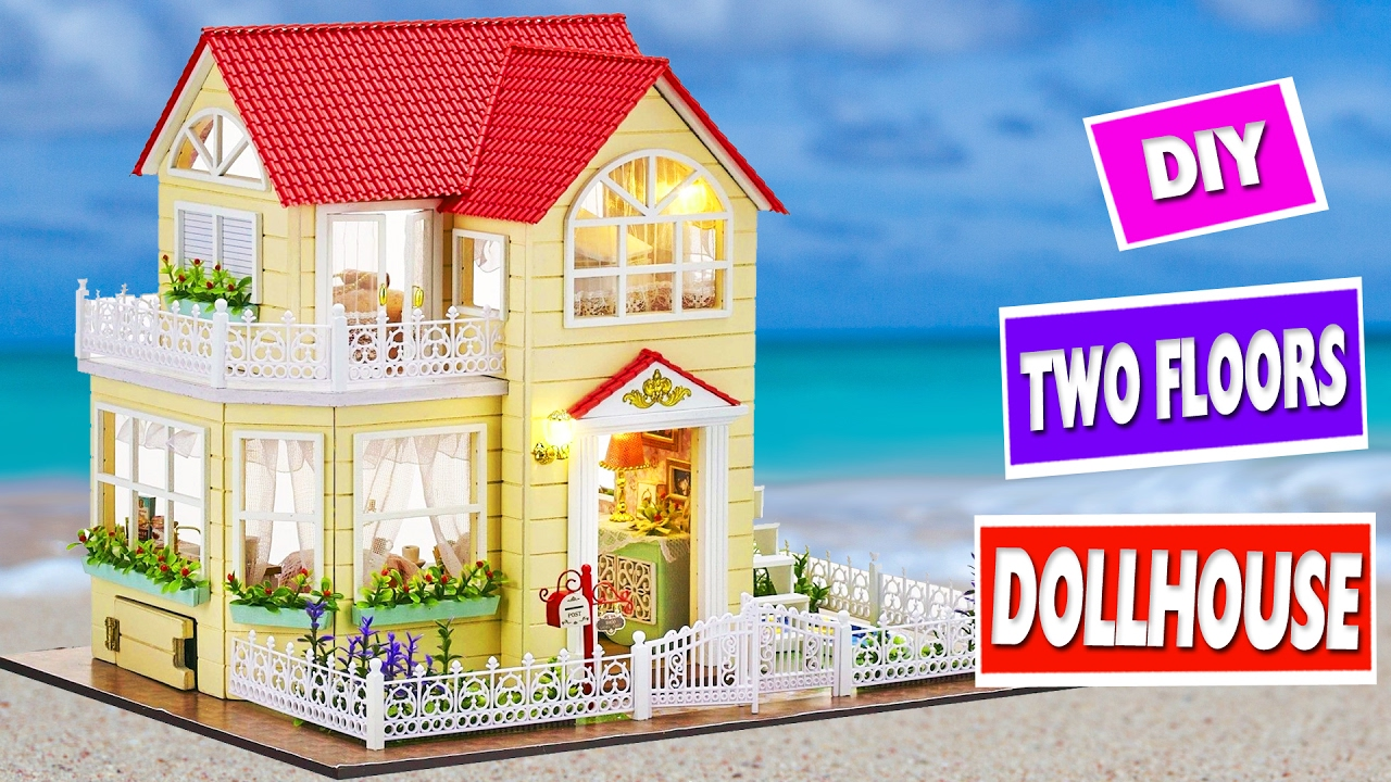 How To Make A Miniature Victorian Dollhouse With A Pool Simplekidscrafts Youtube