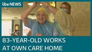 83-year-old gets a job working at her own care home | ITV News