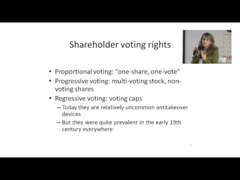 Capital and Financial Markets - Voting Rights Protection and Insider Trading In Complex Markets