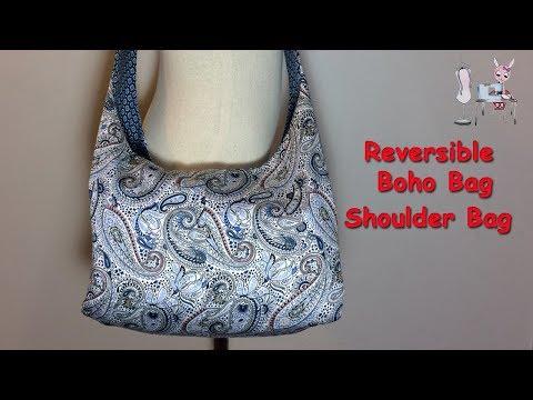 #DIY Reversible Boho Bag   Shoulder Bag   Crossbody Bag  Tutorial