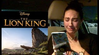 The Lion King Teaser Trailer Reaction (I cry...a lot)