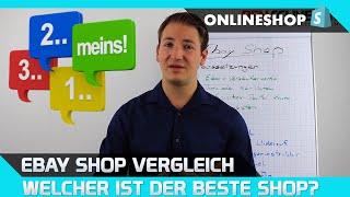 Ebay Shop Vergleich - Welcher ist der beste?