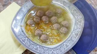 Суп с фрикадельками без зажарки на овощном бульоне. Как готовить фрикадельки для супа