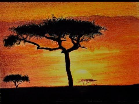 Wie zeichne ich einen crazy Sonnenuntergang / how to draw a sundown - Tutorial (german)