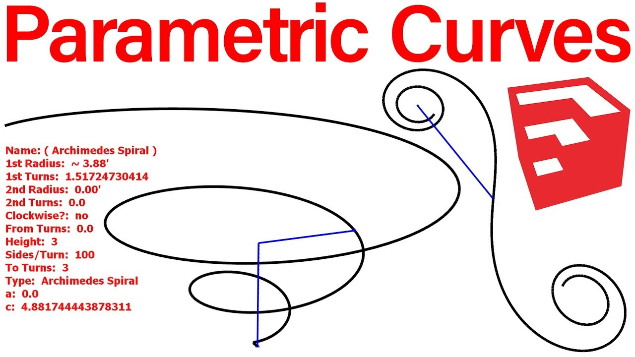 Parametric Curves Plugin For SketchUp by TutorialsUp