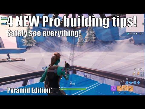 4 NEW Pro Building Tips In Fortnite! Pyramid Edition (How to win fortnite scrims)