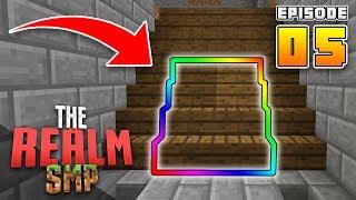 BEST Hidden SECRET BASE!! RealmSMP Ep.5 Minecraft PE (Survival Let