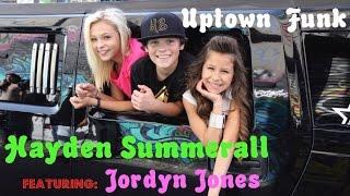 Mark Ronson - Uptown Funk ft. Bruno Mars ( Cover ) Hayden Summerall Starring Jordyn Jones