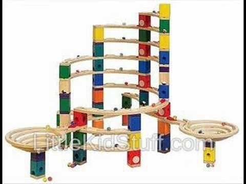 Quadrilla Marble Run Wood Building Block Toy Sets - YouTube