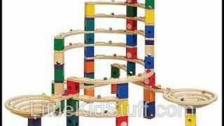 Quadrilla Marble Run Wood Building Block Toy Sets