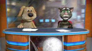 talking tom ben singing best love song by chris brown and t pain