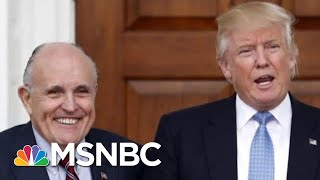 Frank Figuliuzzi Rudy Giuliani Just Threw Trump Under The Bus  The 11th Hour  MSNBC