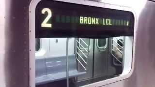 IRT Eastern Parkway Line: Manhattan-bound R142 2/5 Trains@Nevins Street