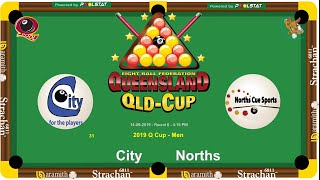 2019 Q-Cup Mens 8 Ball Teams - City v Norths