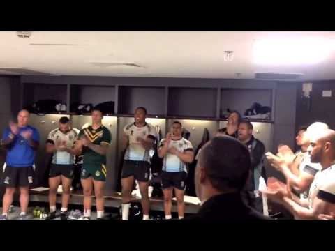 Fiji Singing after there loss to Australia