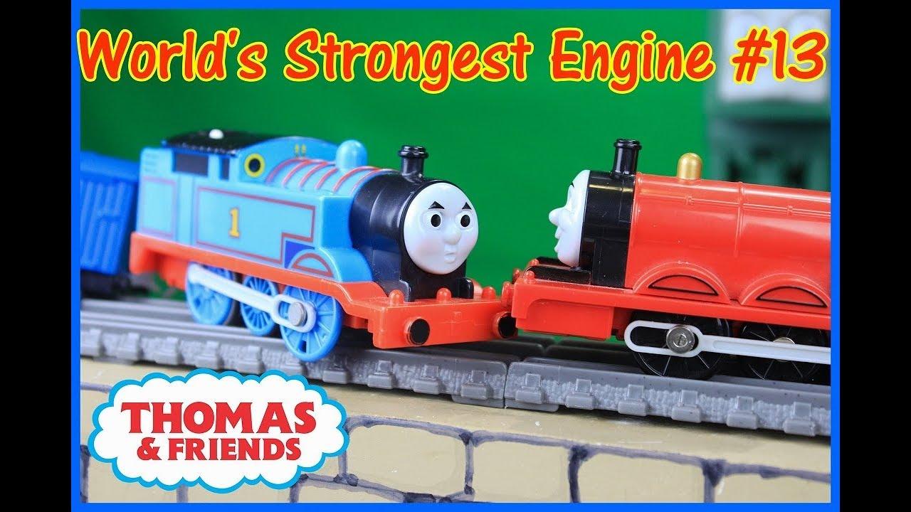 THOMAS AND FRIENDS WORLD'S STRONGEST ENGINE #13 Trackmaster Thomas Thomas  Toy Trains
