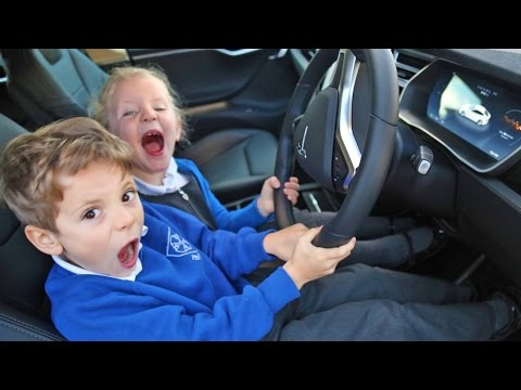 WE BORROWED A TESLA FOR THE WEEKEND | How To Be A Dad