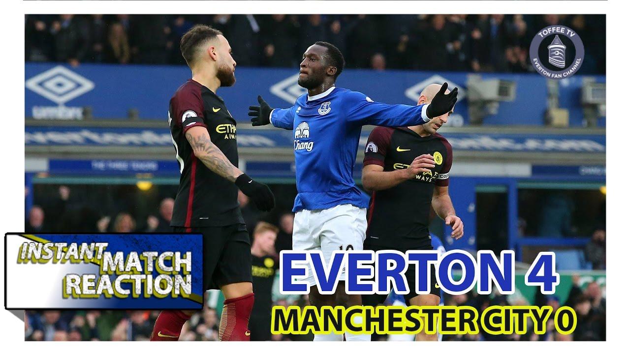 Everton 4 0 Manchester City Baz S Instant Match Reaction Youtube