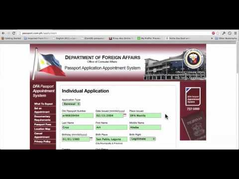 Dfa Passport Appointment Tutorial Video 2013 Youtube