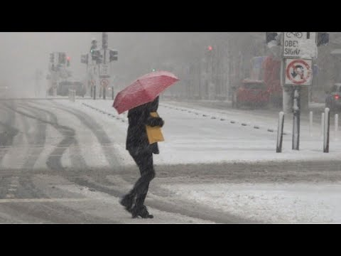 Spring snow storm slams Washington