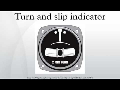 Turn and slip indicator