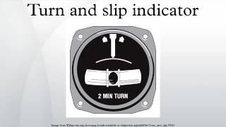 Turn and slip indicator