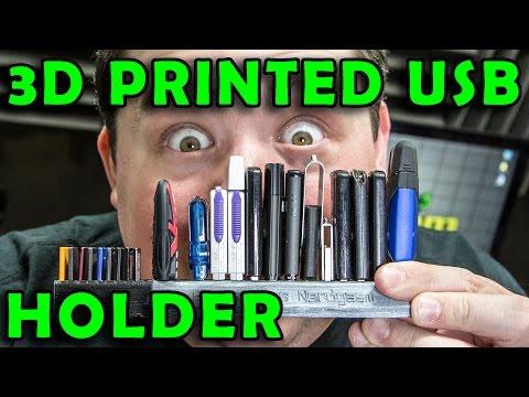 3D Printed Custom USB Thumb Drive & Micro SD Holder : DIY