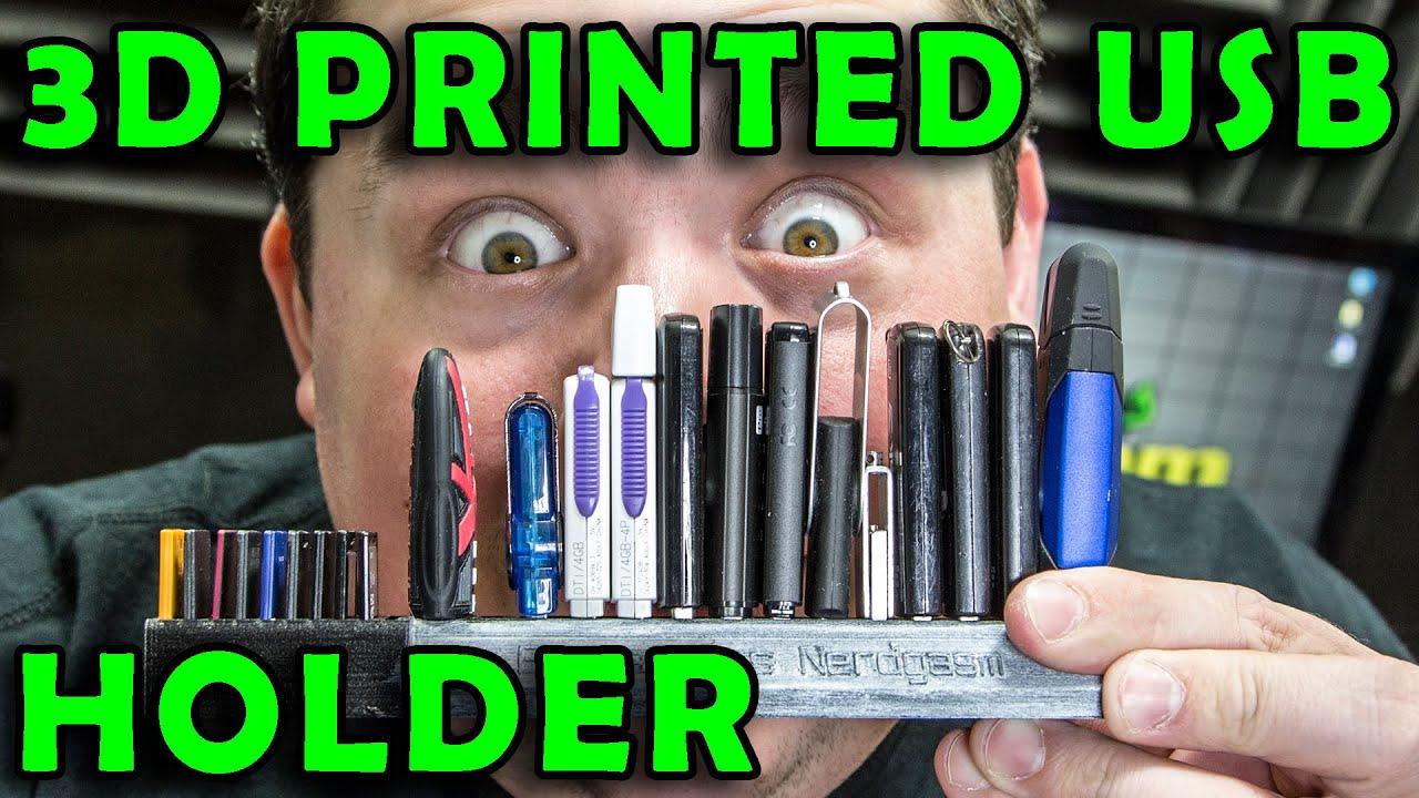 3d printed custom usb thumb drive micro sd holder diy youtube